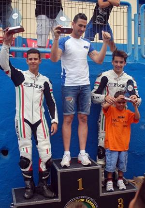 Juan Francisco Bello, Eduardo Alayón y Alexander Galán, podio de la categoría SM1. | DA