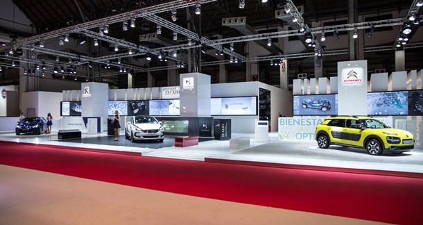 Estand del Grupo PSA Peugeot, Citroën y DS en el Salón de Barcelona. | DA