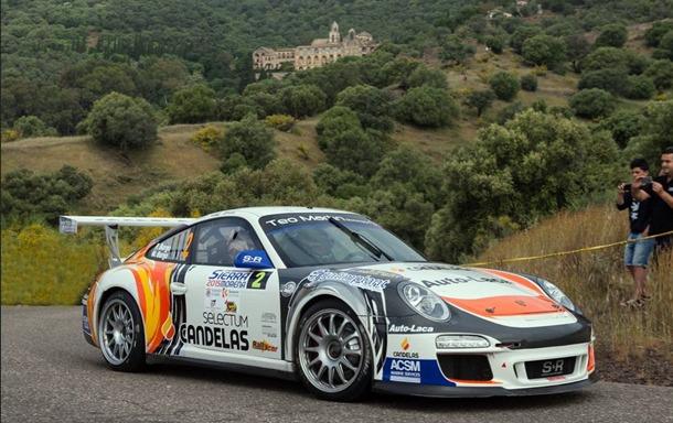 Yeray Lemes logró la victoria en Lanzarote con este Porsche de Pedro Burgo que ahora se quedará en La Palma. | DA