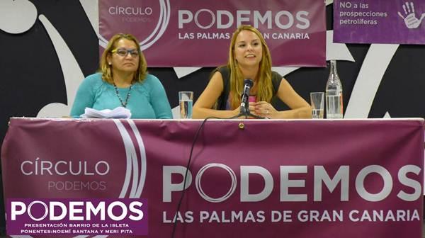 Pita, dirigente de Podemos, y Santana, diputada electa.  | DA