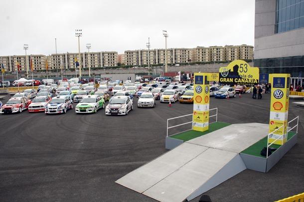 Parque cerrado de la pasada edición del Rally Isla de Gran Canaria. | DA
