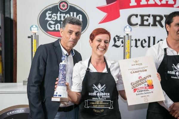 Violant Pallejá Piqué, del Veinte 04 Surf Café, es la mejor tiradora de cañas de Canarias. | EP