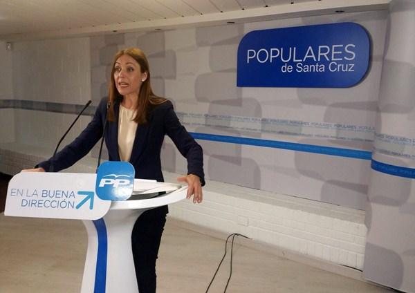 La candidata del PP a la Alcaldía, Cristina Tavío. / DA