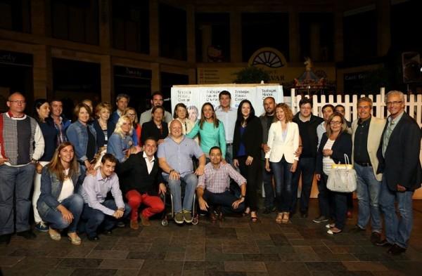 Comienzo de la campaña del grupo popular en Santa Cruz de Tenerife. | DA