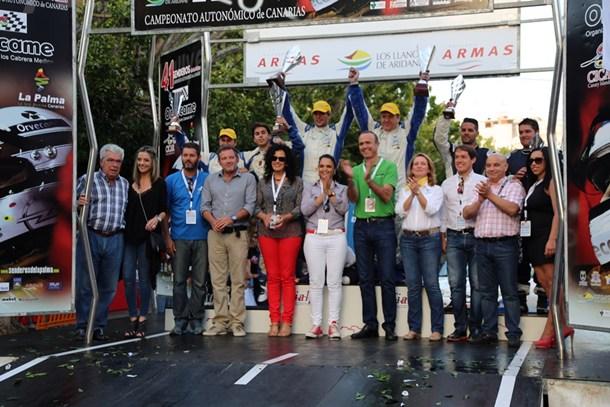 Podio final del Rally Senderos de La Palma 2014. | DA