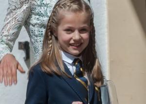 La princesa Leonor en su primera comunión. | EP