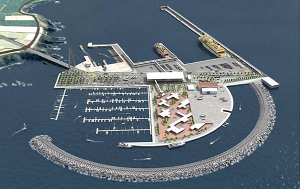 Infografía del proyecto del puerto de Fonsalía. / DA