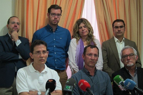 Rueda de prensa para anunciar las protestas.   EP
