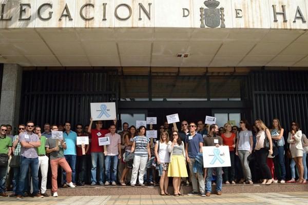 Imagen de la protesta celebrada el pasado viernes. / DA