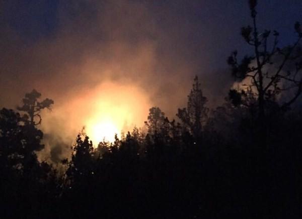 La noche y el viento son duros adversarios para controlar un incendio forestal. / josebolorino.com
