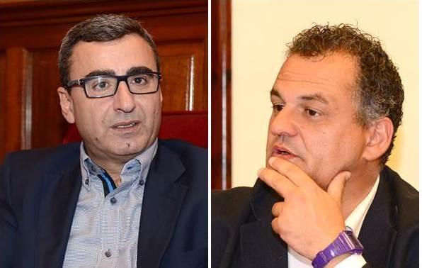 Javier Abreu (CC) y José Alberto Díaz (PSOE). / DA