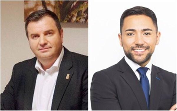 Fermín Correa y Leo García impidieron que Haroldo Martín (CC) fuera investido alcalde. / DA