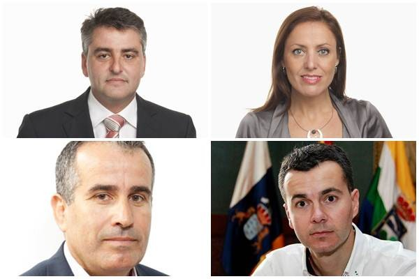 David de la Hoz (CC-PNC); Cristina Tavío (PP); Mario Cabrera (CC-PNC) y Héctor Gómez (PSOE). | DA