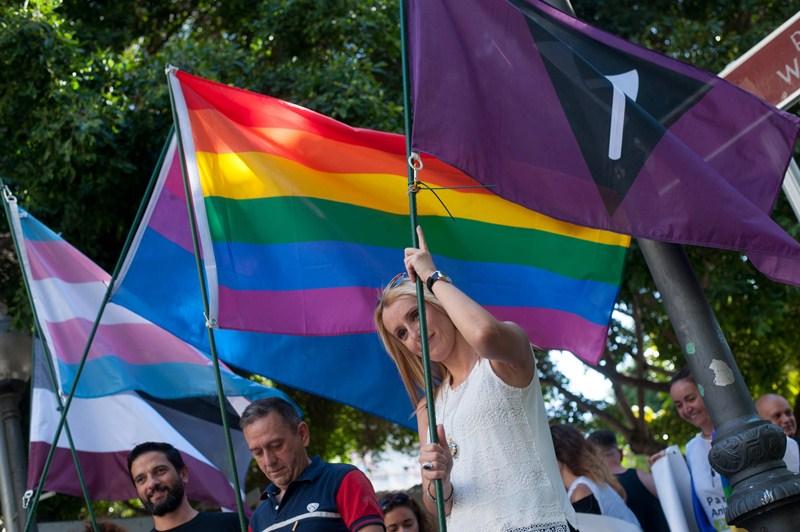 La marcha se inició en Weyler y finalizó en la avenida de Anaga. / FRAN PALLERO