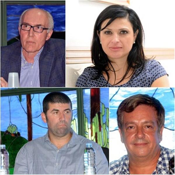 Juan Acosta, Milagros Pérez, Víctor Hernández y Juan Jorge Afonso. / M.P.