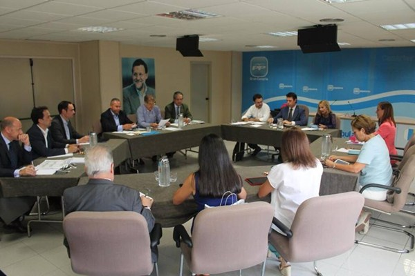Una reunión del Comité Ejecutivo Regional del PP de Canarias. / DA