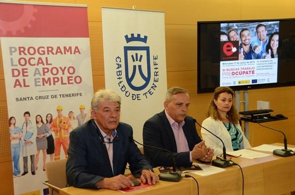 García, Medina y Millán explicaron los detalles del proyecto, ayer en rueda de prensa. / DA