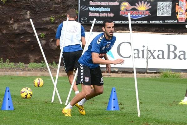 Ricardo León durante un entrenamiento. / SERGIO MÉNDEZ