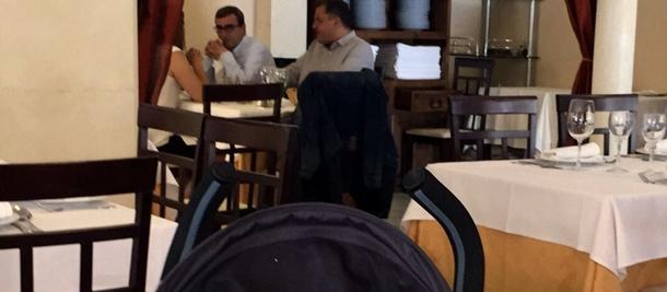 Díaz y Abreu durante el almuerzo celebrado este jueves.