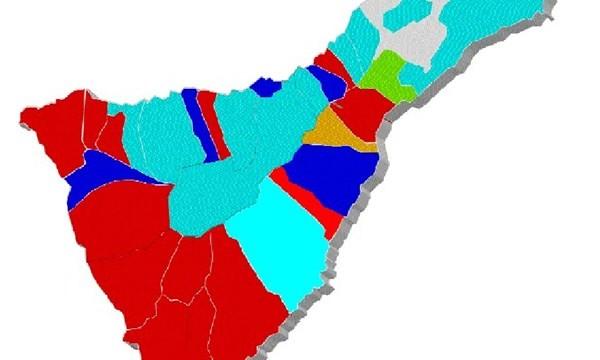 El PSOE logra 12 alcaldías en la Isla, 10 CC, 6 el PP y una AIA e IR