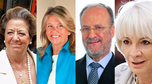 Rita Barberá, Ángelez Muñóz, Javier León de la Riva y Teófila Martínez. / AGENCIAS-DA