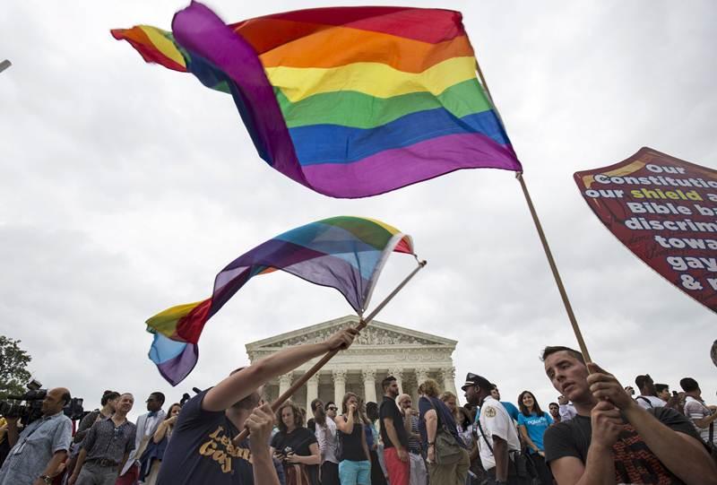 Celebración de la aprobación del matrimonio LGTB en Estados Unidos. | REUTERS