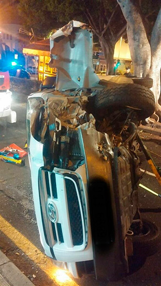 coche volcado ramblas