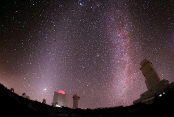 Imagen del cielo desde el Observatorio del Teide. / IAC