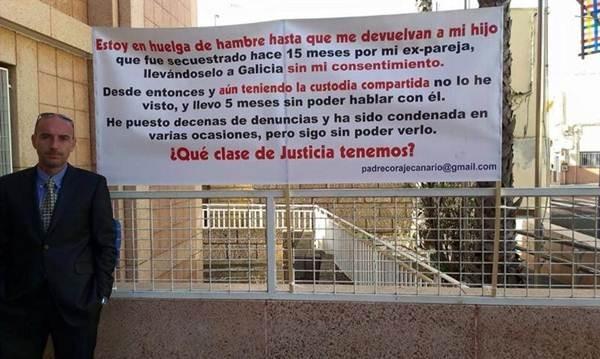 Padre en huelga de hambre por la custodia de su hijo. | CEDIDA