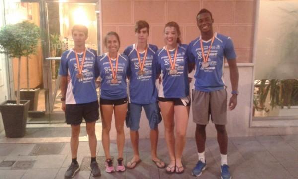 Los cinco medallistas junior del Tenerife CajaCanarias