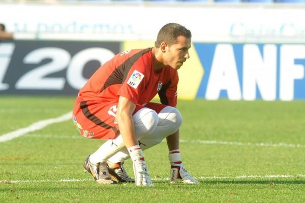 El meta gallego disputó 267 partidos como blanquiazul. / SERGIO MÉNDEZ