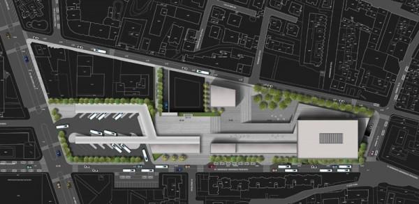 La maqueta del proyecto de la futura estación de guaguas fue presentada por el Cabildo hace justo un año. / DA