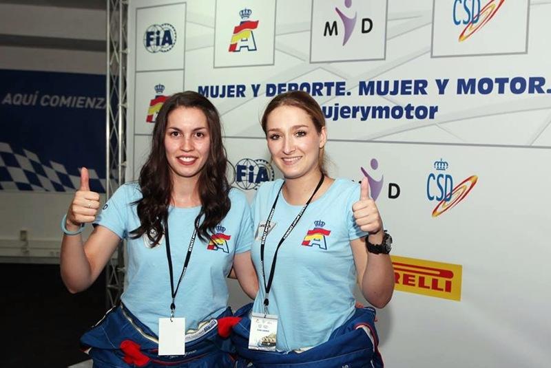 La tinerfeña Elba Correa y la gallega la gallega Adriana Álvarez. | RFEA