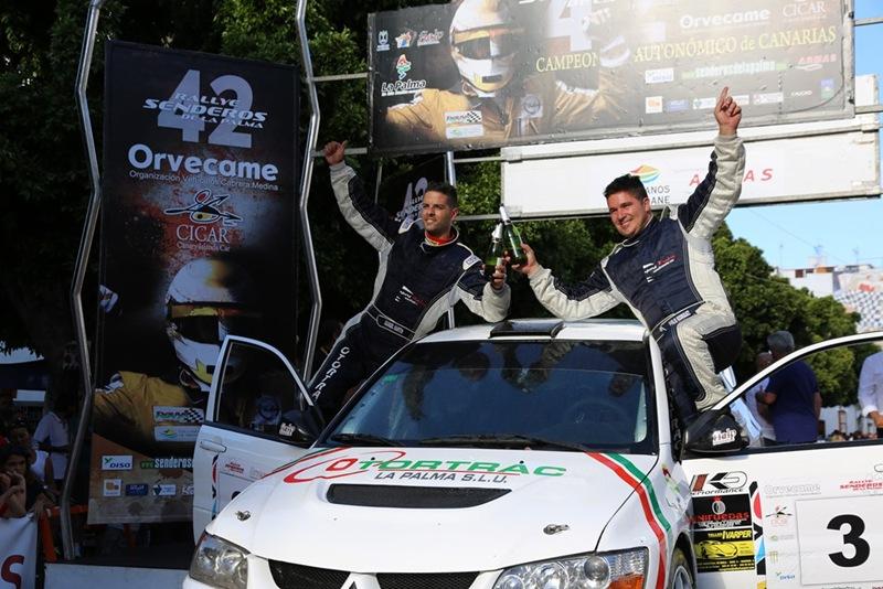 Evelio Rodríguez, tercero en el Rally Senderos. |DA
