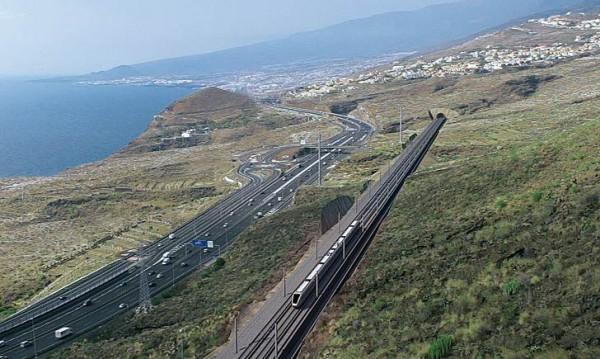 Fotosimulación del proyecto del tren en el Sur de la Isla. | DA