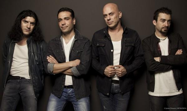 David Amador (centro), junto al resto de miembros de Ni un pelo de tonto. / JAIMA CHINARRO
