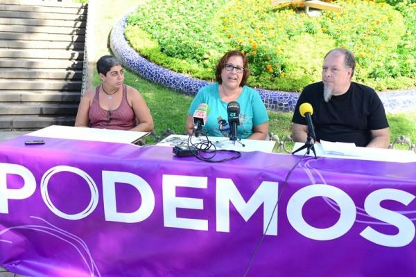 Portavoces de la candidatura de En Canarias Decidimos, en las primarias de Podemos. / S.M.