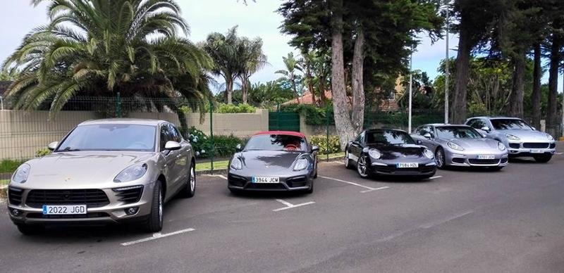 Caravana Porsche en el Club de Golf de Tenerife.  DA