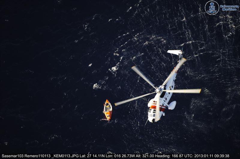 Imagen de archivo de un rescate de Salvamento Marítimo. | DA
