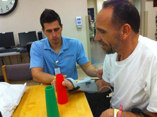 Los terapeutas ocupacionales son básicos en la rehabilitación. / DA