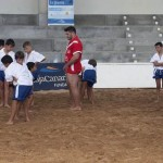 Eusebio Ledesma participó en una jornada de entrenamientos con los más jóvenes.   DA