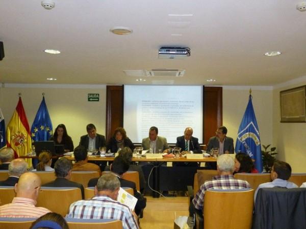 Asamblea de la Federación Canaria de Municipios (Fecam), antes de las elecciones del 24 de mayo. / DA