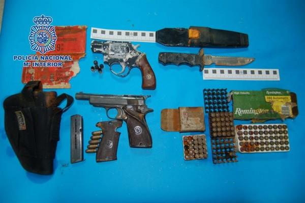 Armas incautadas por la Policía Nacional en Fuerteventura. | POLICÍA NACIONAL