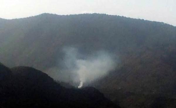 Imagen del humo del incendio en Candelaria.   NORCHI