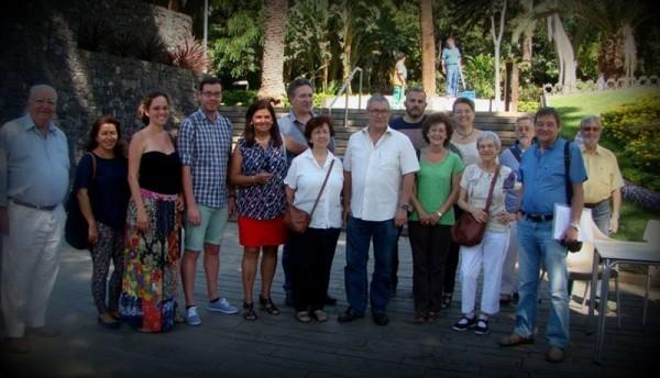 Integrantes de la plataforma ciudadana Ahora en común de Tenerife. / DA