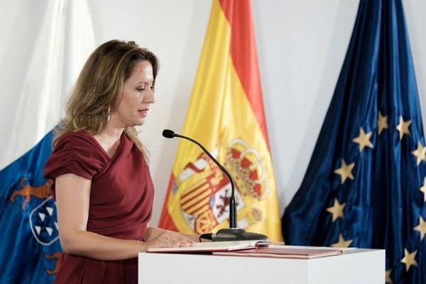 Rosa Dávila, consejera                         de Hacienda del Gobierno de Canarias. / DA