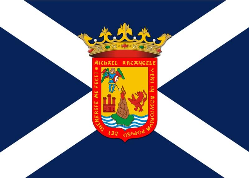 Representación combinada de la bandera y el escudo oficiales de la isla de Tenerife. / DA