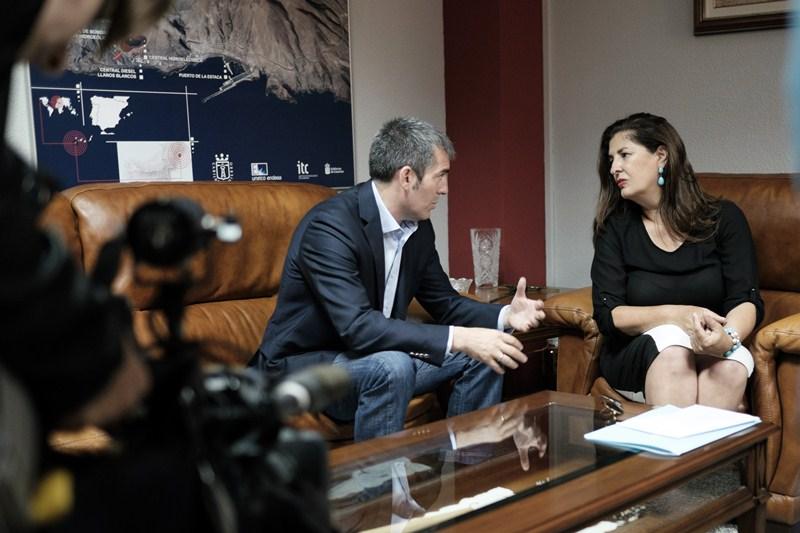 Fernando Clavijo se entrevistó con Belén Allende. / DA