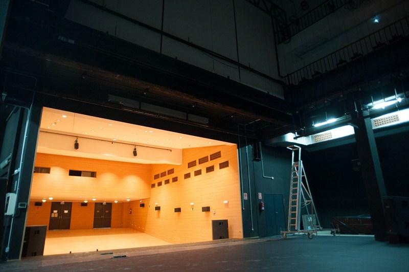 Aspecto actual del teatro de la Biblioteca del Parque de La Granja, en Santa Cruz. / FRAN PALLERO