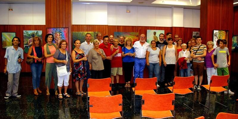 Participantes en la séptima edición del certamen convocado por la asociación Arte Siglo XXI. / DA